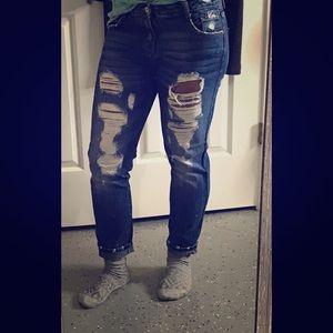 Zara distressed boyfriend jeans size 4